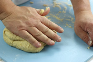 Kneading of Pici Dough.