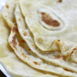 Up close photo of Homemade Flour Tortillas.