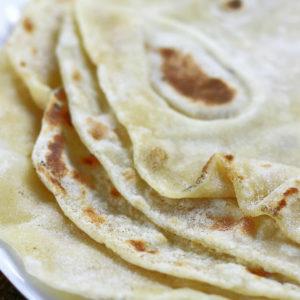 Up close photo of Homemade Flour Tortillas.
