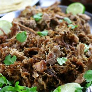 Shredded Pork from Husband Approved Carnitas recipe.