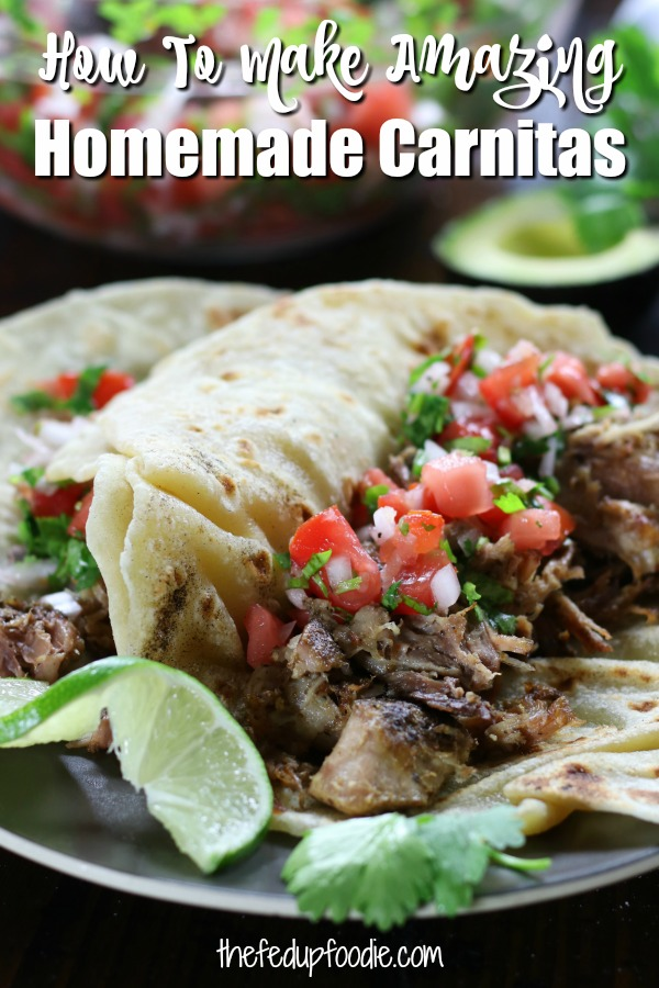 Husband Approved Carnitas creates authentic tender and crispy pulled pork that is full of flavor. Pork is cooked in a slow cooker with citrus and Mexican spices and then lightly fried. This recipe works extremely well for tacos and is always husband approved.