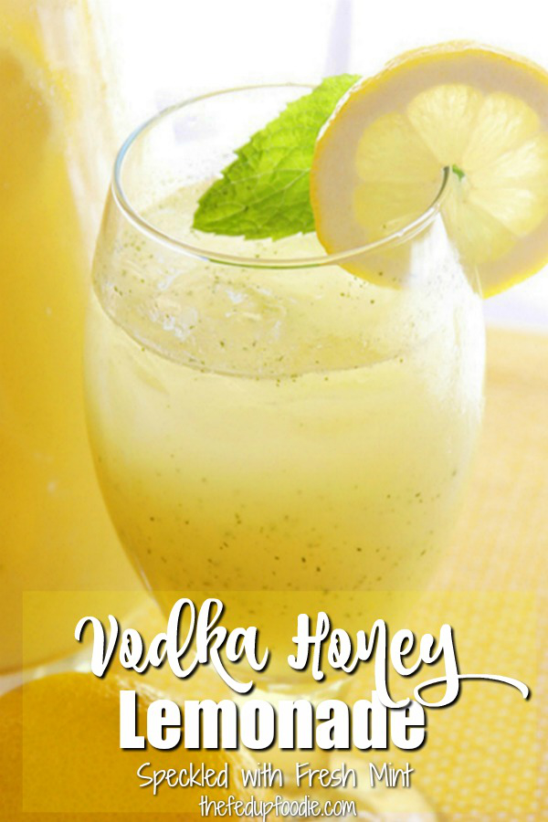 Speckled with fresh mint, this Vodka Honey Lemonade is so delicious and very easy to make. Such a perfect summer drink that people love at parties. 