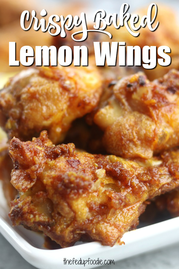 Crispy and baked, these Smokey Lemon Garlic Wings have the subtle flavor of smoked paprika combined with a brightness of lemon and savoriness of garlic. Perfect for game day or a family favorite on movie night!#BakedWings #BakedWingsOven #BakedWingsOvenCrispy #LemonWings #LemonWingsBaked https://www.thefedupfoodie.com