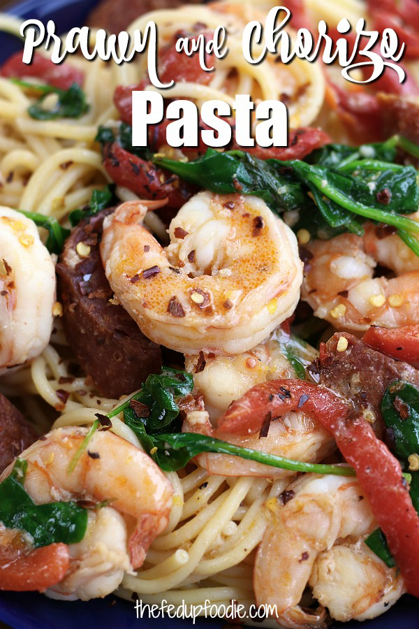A fusion of Latin and Italian cuisine, this Prawn and Chorizo Pasta is packed with flavorful comfort. Bright, savory and slightly spicy, this recipe is special enough for a holiday and yet simple enough for a weeknight. 