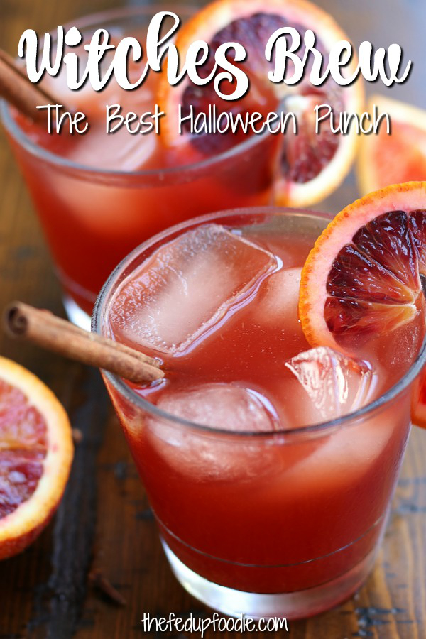 Witches Brew is an absolutely delicious Fall punch made with healthier ingredients that is perfect for little witches and goblins. Very easy to make with tips for making this recipe into an adult beverage. 