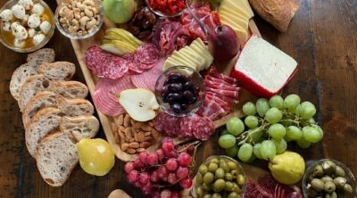 Overhead photo of the Best Charcuterie Board.