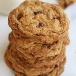 A stack of Vegan Chocolate Chip Cookies.