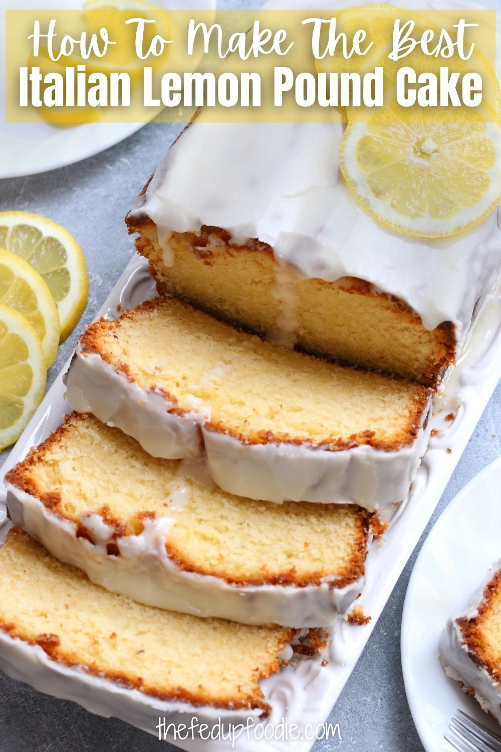Bright and fresh, this Italian Lemon Pound Cake recipe is a soft and fluffy Italian classic. Made with oil rather than butter and very easy to make. With the delicious lemon glaze this dessert turns out 100% better than Starbucks lemon Loaf. #ItalianLemonPoundCake #ItalianLemonCake #ItalianLemonPoundCakeRecipe #ItalianLemonPoundCakeWithGlaze #ItalianLemonPoundCakeEasy #ItalianLemonPoundCakeWithGlaze #LemonPoundCakeRecipeMoist #EasyLemonPoundCakeRecipe #LemonLoaf #LemonLoafCake