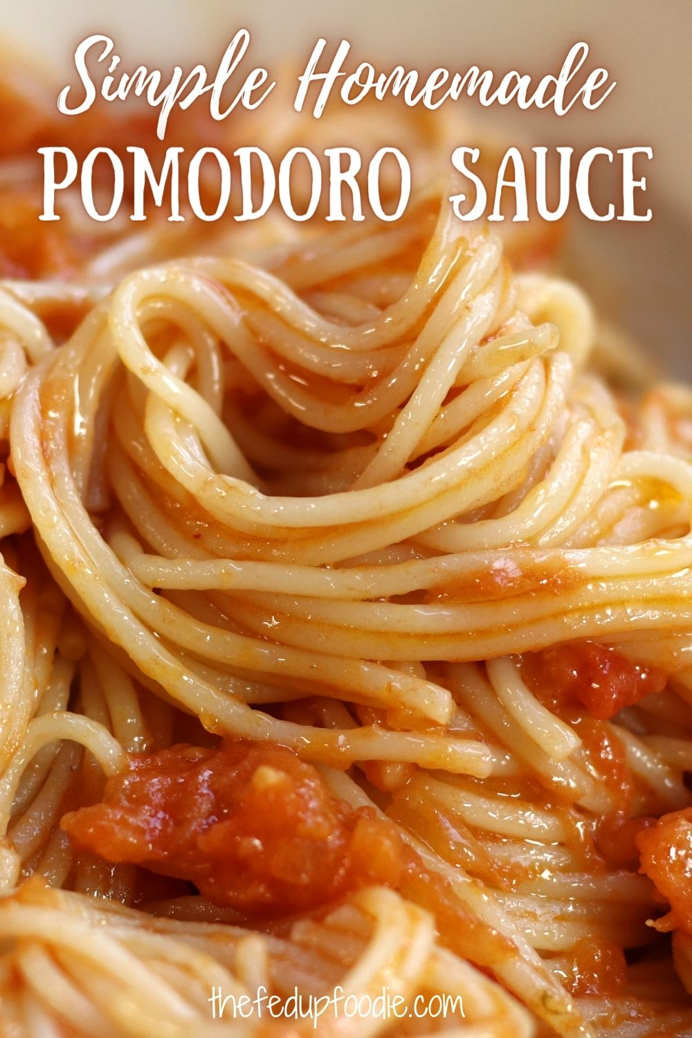 Simple Pomodoro Sauce is a light and tasty basic sauce that is at the heart of Italian cooking. Use this as the base for many Italian recipes or as a quick and easy weeknight dinner served over pasta. #PomodoroSauce #PomodoroSauceRecipe #PomodoroSauceFreshTomatoes  #PomodoroSauceHomemade #PomodoroSauceAuthentic