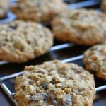 Oatmeal Coconut Cookies cooling on a rack.